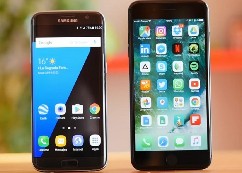 iPhone 7 Plus VS Samsung Galaxy S7 edge