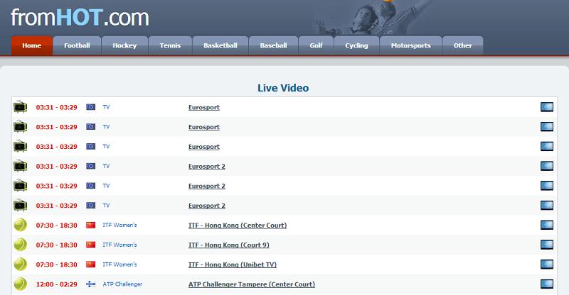 Fromhot online sports portal