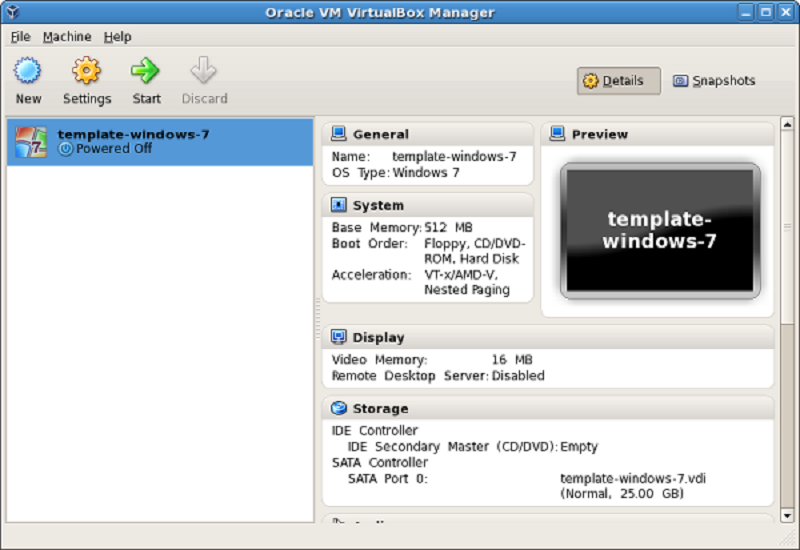 virtualbox machine