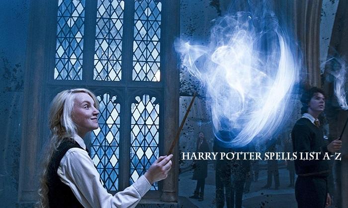 harry potter spells list a-z